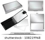 set of business card holders | Shutterstock .eps vector #108219968