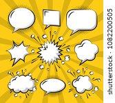 comic pop art speech bubble | Shutterstock .eps vector #1082200505