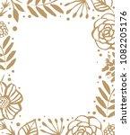 flower frame template for... | Shutterstock .eps vector #1082205176