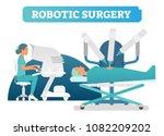 robotic surgery health care... | Shutterstock .eps vector #1082209202