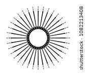 retro sun burst shape. vintage... | Shutterstock .eps vector #1082213408
