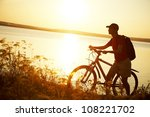 silhouette of sports person... | Shutterstock . vector #108221702