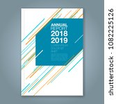 abstract minimal geometric line ... | Shutterstock .eps vector #1082225126