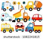 vector set of various vehicles... | Shutterstock .eps vector #1082241815