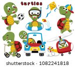 vector set of funny turtles or... | Shutterstock .eps vector #1082241818