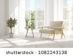 idea of white room with... | Shutterstock . vector #1082243138