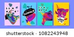 vector colorful summer tropical ...   Shutterstock .eps vector #1082243948