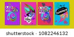 vector colorful summer tropical ... | Shutterstock .eps vector #1082246132