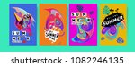 vector colorful summer tropical ... | Shutterstock .eps vector #1082246135