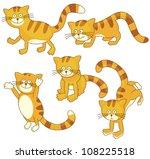 Stock vector playful kitten 108225518