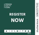 register now button | Shutterstock .eps vector #1082257532