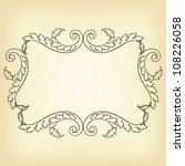 vector vintage border frame... | Shutterstock .eps vector #108226058