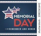 happy memorial day collection... | Shutterstock .eps vector #1082261642