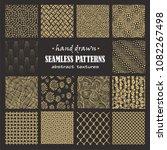 set of seamless hand drawn... | Shutterstock .eps vector #1082267498