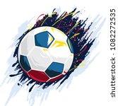 illustration of soccer ball  | Shutterstock .eps vector #1082272535