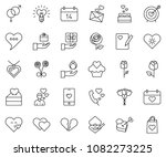 thin line icon set   rose... | Shutterstock .eps vector #1082273225