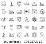 thin line icon set   around the ... | Shutterstock .eps vector #1082273312