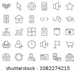 thin line icon set   mouse... | Shutterstock .eps vector #1082274215