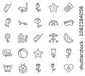 thin line icon set   protective ...   Shutterstock .eps vector #1082284058