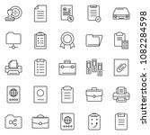 thin line icon set   stamp... | Shutterstock .eps vector #1082284598