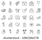 thin line icon set   rose... | Shutterstock .eps vector #1082286278
