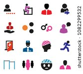 solid vector icon set   student ... | Shutterstock .eps vector #1082299532