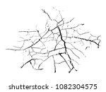 earth cracks isolated on white... | Shutterstock .eps vector #1082304575