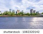 empty marble floor with modern... | Shutterstock . vector #1082320142
