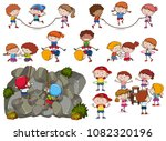 kids and activities on white... | Shutterstock .eps vector #1082320196