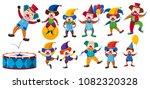 a set of clown on white...   Shutterstock .eps vector #1082320328