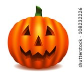isolated pumpkin carved with... | Shutterstock .eps vector #108232226