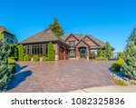big custom made luxury house...   Shutterstock . vector #1082325836