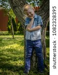 cute four years old boy | Shutterstock . vector #1082328395