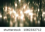 abstract green bokeh circles on ... | Shutterstock . vector #1082332712