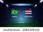 brazil vs costa rica football... | Shutterstock .eps vector #1082339132