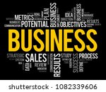 business word cloud collage ... | Shutterstock .eps vector #1082339606