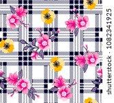 bouquet flowers pattern on... | Shutterstock .eps vector #1082341925