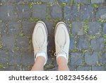 detail of young beautiful woman ... | Shutterstock . vector #1082345666