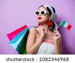 portrait of beautiful style...   Shutterstock . vector #1082346968
