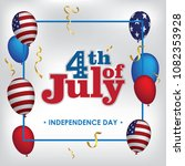 happy 4th of july. usa... | Shutterstock .eps vector #1082353928