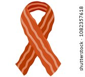 bacon slice ribbon | Shutterstock . vector #1082357618