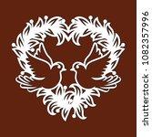 laser cut template of openwork... | Shutterstock .eps vector #1082357996