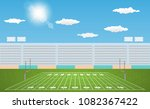 american football arena field... | Shutterstock .eps vector #1082367422