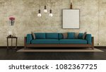 living room with cracked wall... | Shutterstock . vector #1082367725