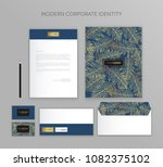 corporate identity business set.... | Shutterstock .eps vector #1082375102