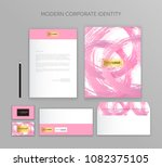 corporate identity business set.... | Shutterstock .eps vector #1082375105