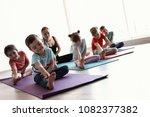 little children and their... | Shutterstock . vector #1082377382