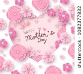 happy mother's day card concept ... | Shutterstock .eps vector #1082377832
