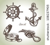 sea set of nautical design... | Shutterstock .eps vector #108237905