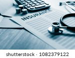health insurance form with... | Shutterstock . vector #1082379122
